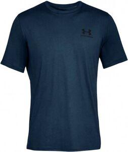 UNDER ARMOUR mens t shirt  tee top S M L XL blue generous fit  short sleeve gym