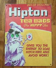 Hipton Lipton Hippie Hippy Topps Wacky Packages Packs Vintage Steel Poster Sign