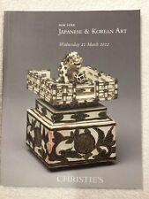 Japanese & Korean Art. Christies. New York. 21 March 2012 .  Fast 1st Post !