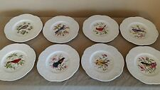 ROYAL CAULDON BRISTOL IRONSTONE AVIARY PLATE HENRY PAUSCH LOT OF 8