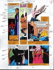 Original 1992 Spectacular Spider-man Marvel color guide comic art page 8:Buscema