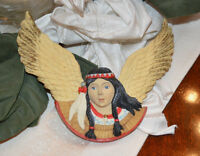 Silvestri Native American Indian Angel Handcrafted Christmas Decoration Ornament