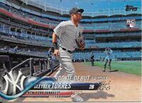Gleyber Torres 2018 Topps Update RAINBOW FOIL Yankees Rookie Debut RC #US191