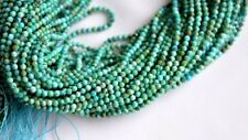 2.40MM Natural Tibetan Turquoise Faceted Round Gemstone Beads 15 Inch Strand
