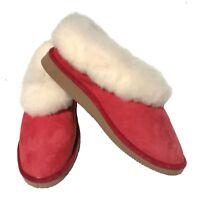 chaussons fourrés - filles - camel coffee ou rouges - pantoufles en mouton