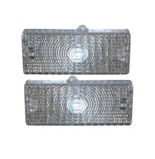 69-70 Chevy C10 Truck Clear Front LH & RH Grill Turn Signal Lights Park Lamps