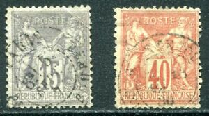 France 1876 - 1878 Type I Used Lot with #69 and 74