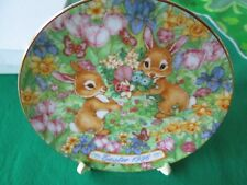 Avon Fine Collectibles *Easter Bouquet* 1996 Easter Plate*With Stand*Nib*