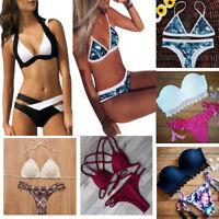 1Set Sexy Women Ladies Bikini Swimwear Push-Up Padded Bra Swimsuit Beachwear ##
