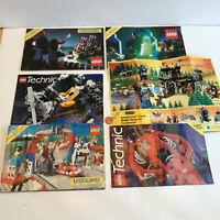 Lot of 6 Vintage LEGO Legoland Catalogs 1988-1996 Builders Club Technic booklets