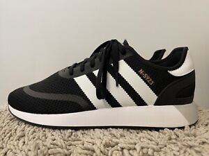 Adidas Original N-5923 Iniki Runner, Black/White, Mens Running Shoes, Size 13