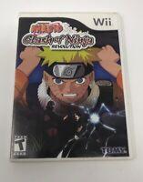 Naruto: Clash of Ninja Revolution (Nintendo Wii, 2007)  No Manual Tested Working