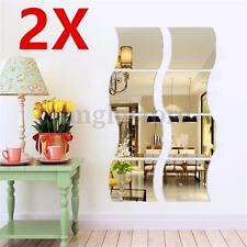 3D Mirror Wall Stickers Vinyl Removable Home View Window Decal Art Decor Mural