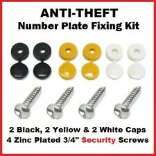 Anti-Theft Number Plate Tamper Proof Clutch Head Security Screws Fixing Kit