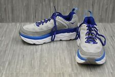 Hoka One One Bondi 6 Running Shoes - Men's Size 7.5 2E - Grey/Blue