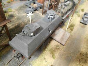 HO Roco Minitanks German Armored Railway Car Custom Detailed Weathered #A1306
