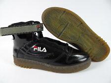 Mens Fila Shoes Sneakers Black FX100 Retro Original High Top Strap Size 10