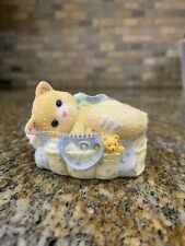 Calico Kittens Welcoming A Whole New Bag Of Tricks Cat Figurine- See Photos
