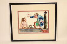 One of A Kind 1986 Leo Meiersdorff Jazz Art Original Watercolor Painting Signed