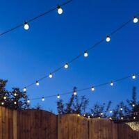 8 - 120m Outdoor Garden LED Festoon String Lights | Party Globe Bulb Home