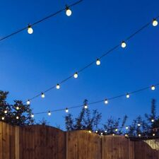 Connectable Outdoor Garden Wedding Party Festoon Globe Bulb 20 LED String Lights Black Warm White Frosted Cap 8m