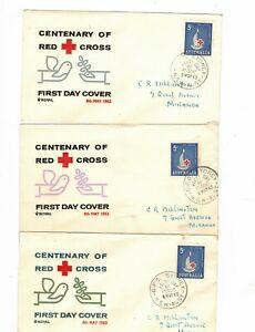 Australia 1963 5d Red Cross on ROYAL FDCs          (3 items)