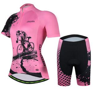Women's Cycling Kit Bicycle Jersey and Biking (Bib) Shorts Set Pink / Red S-5XL