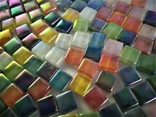 Iridescent Assorted Color Mix Crystal Glass Mosaic Tiles  3/8 inch -100 count