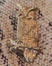 14K Yellow Gold Owl Brooch Pin Pendant 9.7g