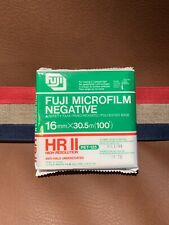 FUJI Microfilm Negative High Resolution Non Perforated 16mm 100 feet Film