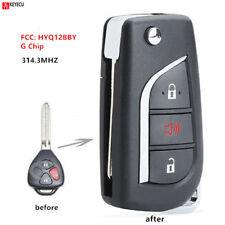 New 4BTN Flip Remote Key 315MHz 4D67 Chip for Toyota Avalon 89070-02270// GQ4-29T