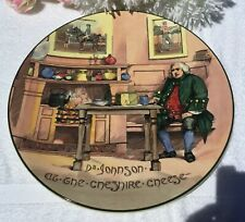 """ROYAL DOULTON CHARGER D6377 """"DR JOHNSON AT THE CHESHIRE CHEESE"""""""
