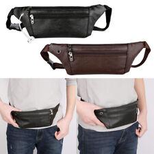 Men PU Leather Cowhide Hip Belt Fanny Pack Waist Purse Sling Chest Storage Bag