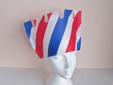 10 Red White and Blue Crepe Paper Crowns