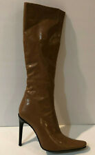 Gorgeous Italian Made Vero Cuoio Tan High Heel Boots Size 37 EU / 6.5 US