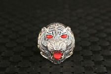 925 silver nice tiger head ring collectable