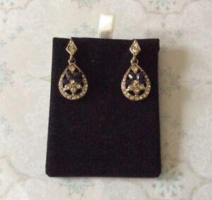 Vintage Design Crystal Teardrop Earrings