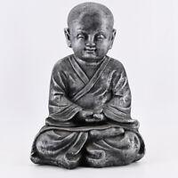 Buddha Statue Garten Deko Figur Skulptur Feng Shui Asia Mönch Meditation 43 cm