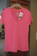 Womens M, Adidas hot pink fitness/workout/running shirt/top, Climalite, NWT