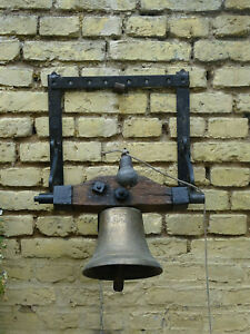 Old French Castle Bell Castle Wall Bell Door Bell Wrought Iron Chateau