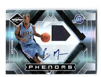 NBA Eric Maynor 2009-10 Panini Utah Jazz VCU Autograph Relic Card SN 262/299