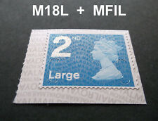 NEW JUNE 2018 2nd LARGE M18L + MFIL MACHIN SINGLE STAMP from Booklet