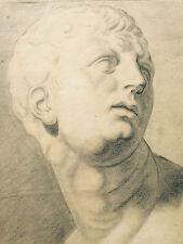 EMPIRE BIEDERMEIER ZEICHNUNG PORTRÄT KLASSIZISMUS SIGNIERT 1810