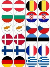 120 x PRECUT Edible Flag Cupcake Wafer Toppers - Different Countries, EU, Scot
