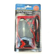 Cen Tech Digital Amp Ohm Volt Meter Ac Dc Voltmeter Multimeter Red New Condition