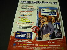 MARY-KATE & ASHLEY OLSEN in BILLBOARD DAD 1998 Movie promo poster ad MINT COND.