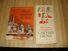 Awesome 1965 Vintage book - Colonial Williamsburg Official Guidebook & Map