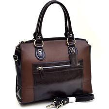 New Dasein Women Leather Satchel Handbag Briefcase Tote Bags Shoulder Bag Purse