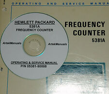 HP 5381A Frequency Counter Operating & Service Manual (Excellent Schematics)