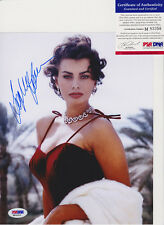 SOPHIA LOREN SEXY SIGNED AUTOGRAPH 8X10 PHOTO PSA/DNA COA #M83356